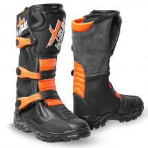 Bottes cross enfant orange Sporting