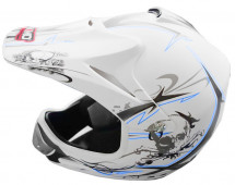 Casque cross enfant blanc mat Speedy