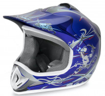 Casque cross enfant bleu brillant Speedy