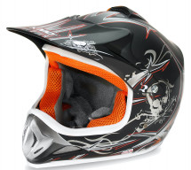 Casque cross enfant noir brillant Speedy