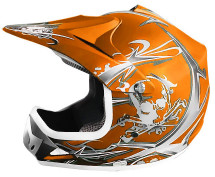 Casque cross enfant orange mat Speedy