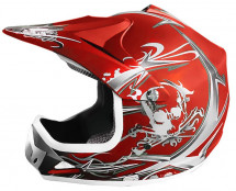 Casque cross enfant rouge mat Speedy