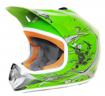 Casque cross enfant vert brillant Speedy