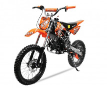 Dirt bike NXD Prime 125cc orange Manuel 4 temps 17/14 pouces