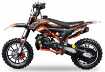 Moto bike cross Cheetah Deluxe 49cc orange 10/10 pouces