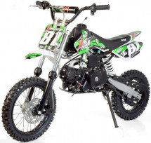 Moto cross 110cc kick start verte 14/12 pouces