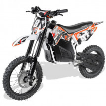 Moto cross 1200W lithium orange 14/12 pouces