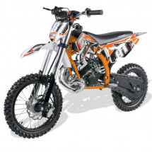 Moto cross 50cc orange 14/12 pouces 9cv automatique Kick starter Xtrm