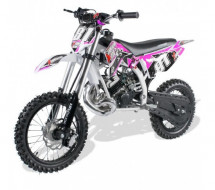 Moto cross 50cc rose 14/12 pouces 9cv automatique Kick starter Xtrm