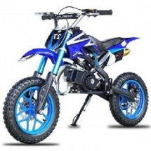 Moto cross Apollo 49cc bleue 10/10 pouces