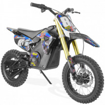 Moto cross bleu 1300W lithium 14/12 pouces Sparting