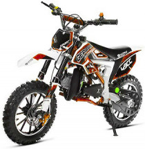Moto cross Cheetah Deluxe Sport 49cc orange 10/10 pouces