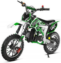 Moto cross Cheetah Deluxe Sport 49cc verte 10/10 pouces