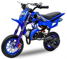 Pocket bike DS67 Sport 49cc bleue 8/8 pouces