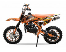 Moto cross enfant 49cc orange 10/10 pouces