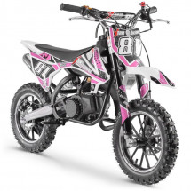 Moto cross enfant 50cc rose Start 10/10 pouces