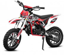 Moto cross Gazelle Deluxe E-Start 49cc rouge 10/10 pouces