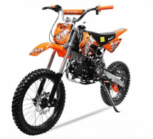 Moto cross NXD Prime 125cc orange manuelle 4 vitesses 17/14 pouces