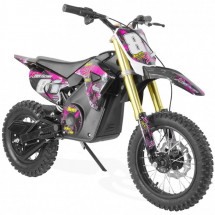 Moto cross rose 1300W lithium 14/12 pouces Sparting