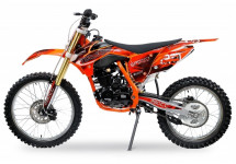 Moto cross Tornado 250cc orange mécanique 5 vitesses 21/18 pouces