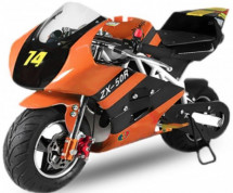 Moto de Course Deluxe 49cc PS50 orange 6.5/6.5 pouces