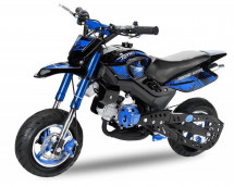 Pocket bike cross Hobbit Sport 49cc bleue 6.5/6.5 pouces