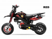 Pocket bike cross Hobbit Sport 49cc rouge 6.5/6.5 pouces