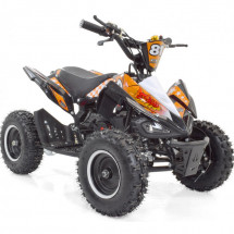 Pocket quad essence 50cc noir et orange Crossing 6 pouces