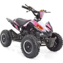 Pocket quad essence 50cc noir et rose Crossing 6 pouces