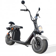 Scooter Citycoco 1500W lithium blanc