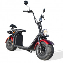 Scooter Citycoco 1500W lithium rouge